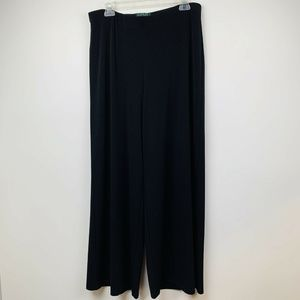 Lauren Ralph Lauren L Pant Black Wide Leg  Travel